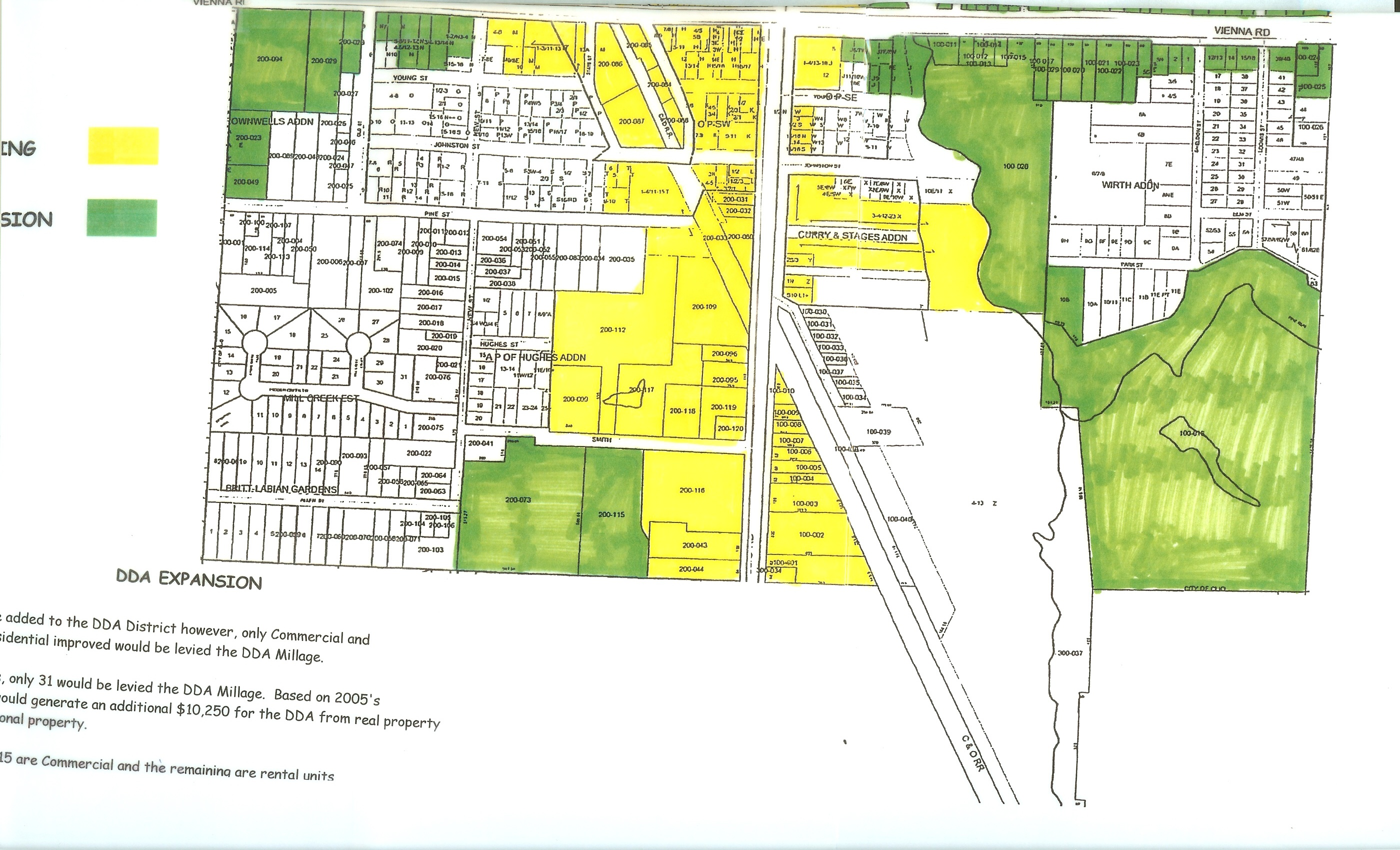 Michigan genesee county clio - Dda District Map South Side Of Vienna
